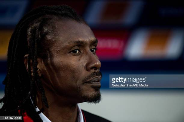 Aliou Cisse of Senegal looks on during the 2019 Africa Cup of Nations Group C match between Senegal and Tanzania at 30 June Stadium on June 23 2019...
