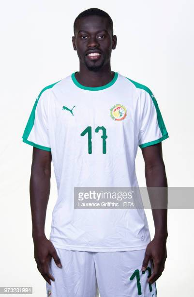 Alioune Pape Ndiaye of Senegal poses for a portrait during the official FIFA World Cup 2018 portrait session at the Team Hotel on June 13 2018 in...