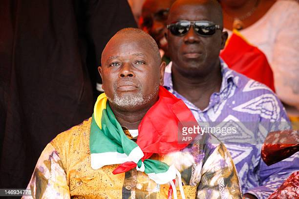Alioune Tine president Raddho attends a rally marking the first anniversary of the opposition movement M23 in Dakar on June 23 2012 AFP PHOTO/Mamadou...