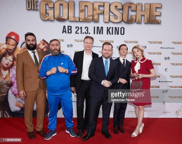 Alireza Golafshan Kida Khodr Ramadan Jan Henrik Stahlberg Axel Stein Tom Schilling and Jella Hase attend the Family Friends screening of 'Goldfische'...