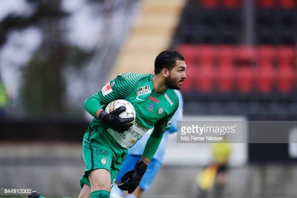 Alireza Haghighi goalkeeper of Athletic FC Eskilstuna during the Allsvenskan match between Ostersunds FK and Athletic FC Eskilstuna at Jamtkraft...