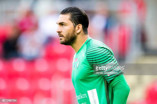 Alireza Haghighi goalkeeperof Athletic FC Eskilstuna during the Allsvenskan match between Kalmar FF and Athletic FC Eskilstuna at Guldfageln Arena on...