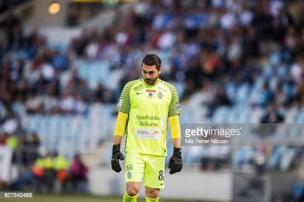 Alireza Haghighi goalkeeperof Athletic FC Eskilstuna during the Allsvenskan match between IFK Norrkoping and Athletic FC Eskilstuna at Ostgotaporten...