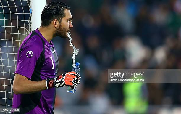 Alireza Haghighi looks on during Iran against South Korea in International Friendly match on November 18 2014 in Tehran Iran