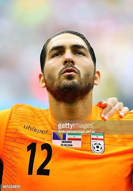 Alireza Haghighi looks on during the 2014 FIFA World Cup Brazil Group F match between Bosnia and Herzegovina and Iran at Arena Fonte Nova on June 25...