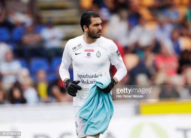 Alireza Haghighi of Athletic FC Eskilstuna during the Allsvenskan match between IK Sirius FK and Athletic FC Eskilstuna at Studenternas IP on July 8...