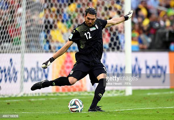 Alireza Haghighi of Iran in action during the 2014 FIFA World Cup Brazil Group F match between Iran and Nigeria at Arena da Baixada on June 16 2014...