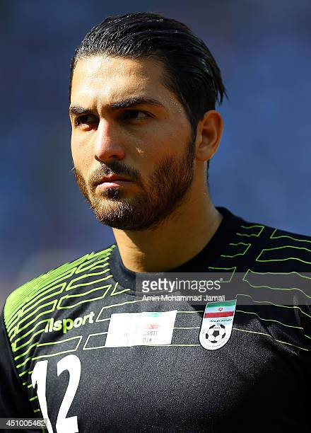 Alireza Haghighi of Iran looks on during the 2014 FIFA World Cup Brazil Group F match between Argentina and Iran at Estadio Mineirao on June 21 2014...