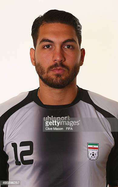 Alireza Haghighi of Iran poses during the official FIFA World Cup 2014 portrait session on June 4 2014 in Sao Paulo Brazil