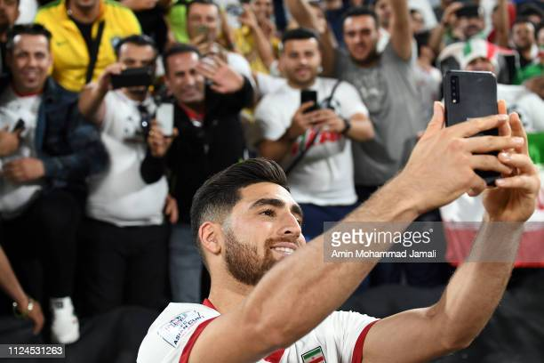 Alireza Jahanbakhsh looks on during the AFC Asian Cup quarter final match between China and Iran at Mohammed Bin Zayed Stadium on January 24 2019 in...