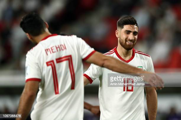 Alireza Jahanbakhsh looks on during the AFC Asian Cup round of 16 match between Iran and Oman at Mohammed Bin Zayed Stadium on January 20 2019 in Abu...
