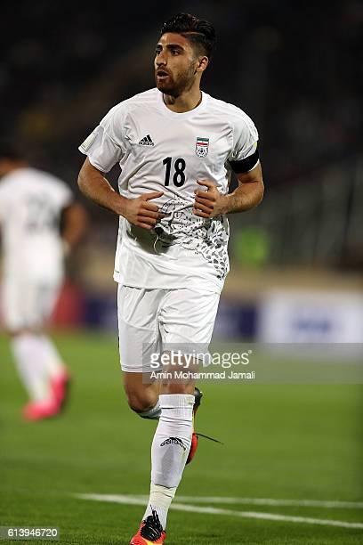 Alireza Jahanbakhsh looks on during the FIFA 2018 World Cup Qualifier between Iran and Korea at Azadi Stadium on October 11 2016 in Tehran