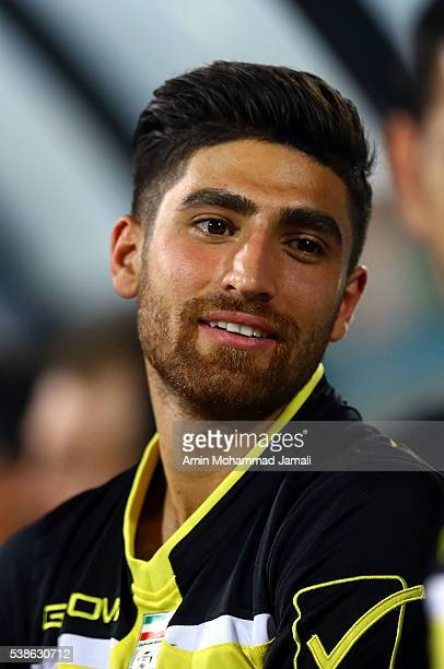 Alireza Jahanbakhsh looks on during the international friendly match between Iran and Kyrgyzstan on June 7 2016 in Tehran Iran