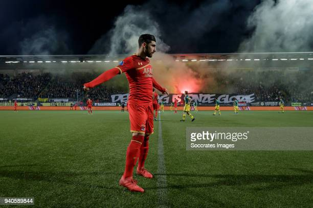 Alireza Jahanbakhsh of AZ Alkmaar during the Dutch Eredivisie match between ADO Den Haag v AZ Alkmaar at the Cars Jeans Stadium on March 31 2018 in...