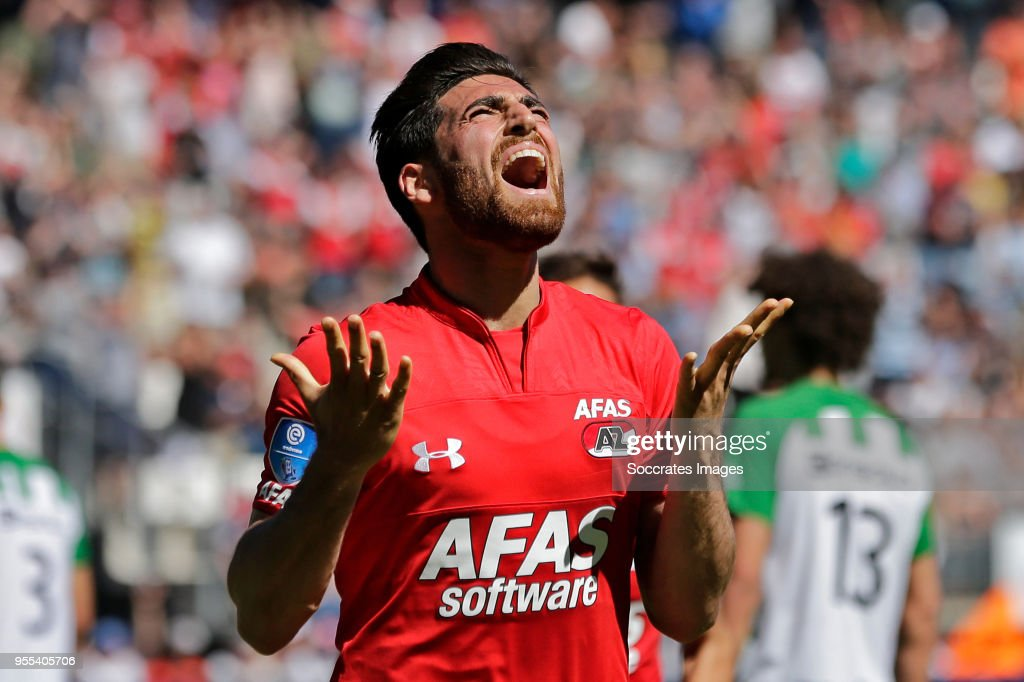 Alireza Jahanbakhsh of AZ Alkmaar during the Dutch Eredivisie match between AZ Alkmaar v PEC Zwolle at the AFAS Stadium on May 6, 2018 in Alkmaar Netherlands