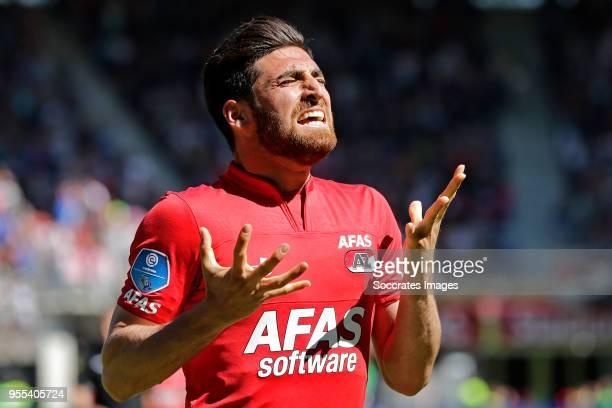 Alireza Jahanbakhsh of AZ Alkmaar during the Dutch Eredivisie match between AZ Alkmaar v PEC Zwolle at the AFAS Stadium on May 6 2018 in Alkmaar...