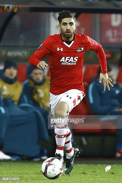 Alireza Jahanbakhsh of AZ Alkmaarduring the UEFA Europa League group D match between AZ Alkmaar and FC Zenit on December 08 2016 at the AFAS stadium...