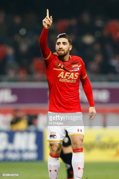 Alireza Jahanbakhsh of AZ during the Dutch Eredivisie match between sbv Excelsior Rotterdam and AZ Alkmaar at Van Donge De Roo stadium on March 03...