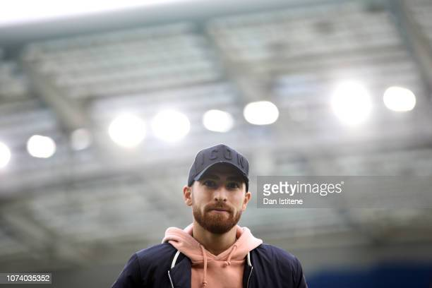 Alireza Jahanbakhsh of Brighton and Hove Albion arrives ahead of the Premier League match between Brighton Hove Albion and Chelsea FC at American...
