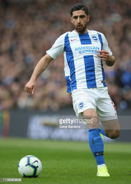 Alireza Jahanbakhsh of Brighton and Hove Albion in action during the Premier League match between Brighton Hove Albion and Huddersfield Town at...