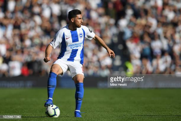 Alireza Jahanbakhsh of Brighton Hove Albion during the Premier League match between Brighton Hove Albion and Fulham FC at American Express Community...