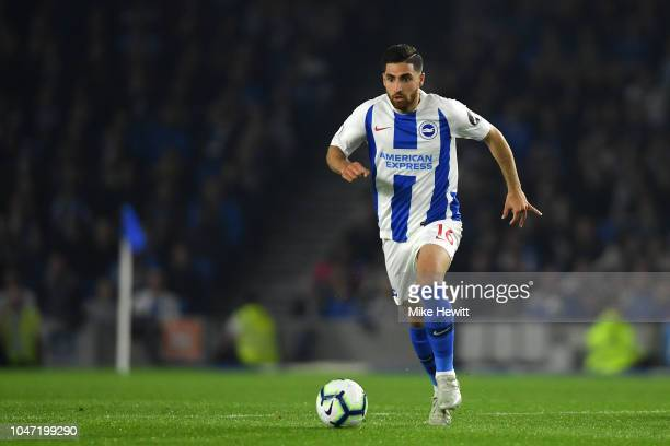 Alireza Jahanbakhsh of Brighton Hove Albion in action during the Premier League match between Brighton Hove Albion and West Ham United at American...