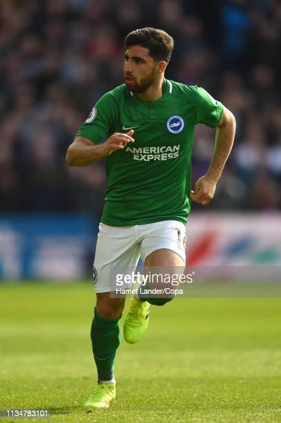 Alireza Jahanbakhsh of Brighton Hove Albion runs on during the Premier League match between Crystal Palace and Brighton Hove Albion at Selhurst Park...