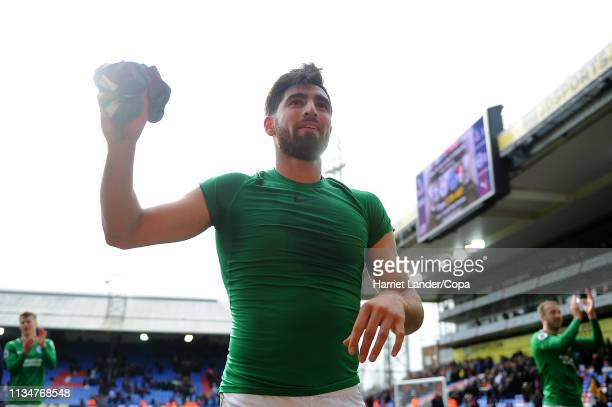 Alireza Jahanbakhsh of Brighton Hove Albion throws his shirt into the crowd after the Premier League match between Crystal Palace and Brighton Hove...