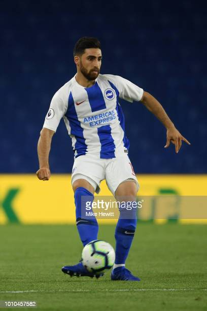 Alireza Jahanbakhsh of Brighton in action during a PreSeason Friendly between Brighton and Hove Albion and FC Nantes at Amex Stadium on August 3 2018...