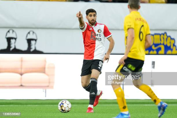 Alireza Jahanbakhsh of Feyenoord during the UEFA Conference League match between IF Elfsborg and Feyenoord at Boras Arena on August 26, 2021 in...