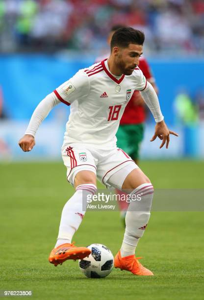 Alireza Jahanbakhsh of Iran during the 2018 FIFA World Cup Russia group B match between Morocco and Iran at Saint Petersburg Stadium on June 15 2018...