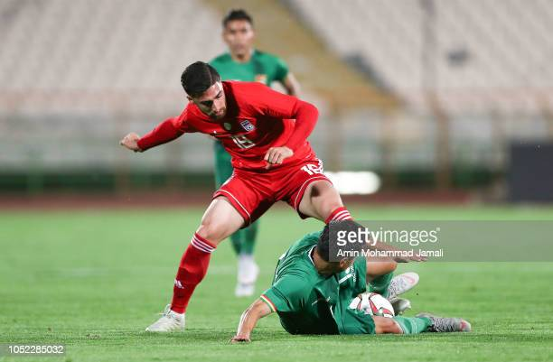 Alireza Jahanbakhsh of Iran in action during the international friendly match between Iran and Bolivia at Azadi Stadium on October 16 2018 in Tehran...