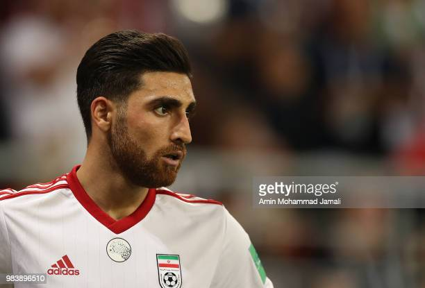 Alireza Jahanbakhsh of Iran looks on during the 2018 FIFA World Cup Russia group B match between Iran and Portugal at Mordovia Arena on June 25 2018...