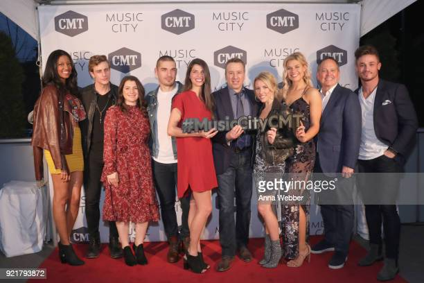 Alisa Beth Bryant Lowry SVP of Developement of CMT Morgan Selzer Kerry Degman Rachyl Degman GM of TV Land and CMT Frank Tanki Jessica Mack Sarah...
