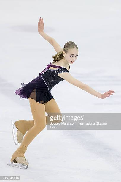 Alisa Lozko of Russia competes during the Junior Ladies Free Skating on day three of the ISU Junior Grand Prix of Figure Skating on September 24 2016...