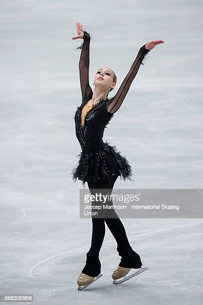 Alisa Lozko of Russia competes during the junior ladies short program on day one of the ISU Junior Grand Prix of Figure Skating on September 1 2016...