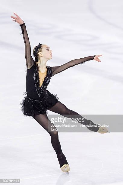 Alisa Lozko of Russia competes during the Junior Ladies Short Program on day one of the ISU Junior Grand Prix of Figure Skating on September 22 2016...