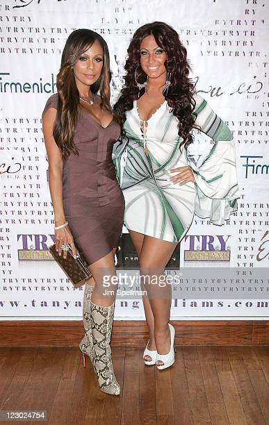 Alisa Maria and Tracy DiMarco attend the VH1 Basketball Wives premiere party at Tian at the Riverbank on August 29 2011 in New York City