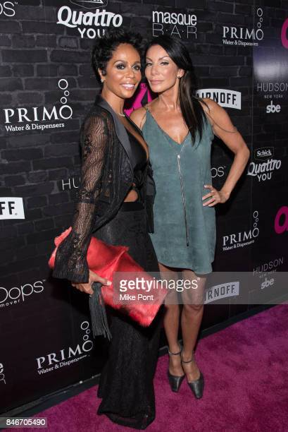 Alisa Maria Fronzaglia and Danielle Staub attend OK Magazine's Fall Fashion Week 2017 Event at Hudson Hotel on September 13 2017 in New York City