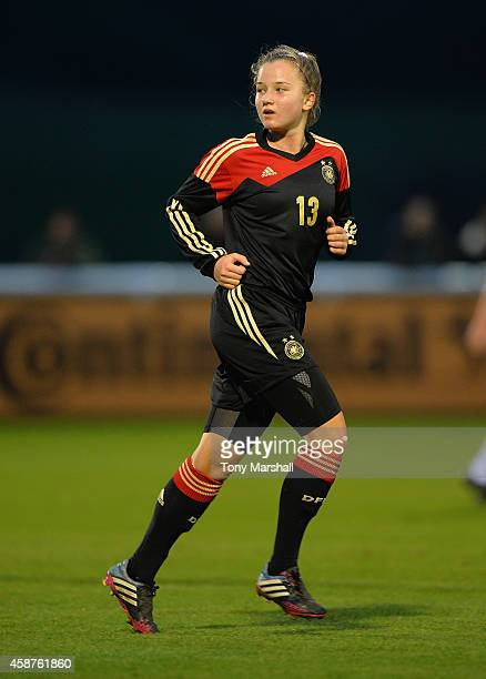 Alisa Pesteritz of Germany during the International Friendly match between U16 Girl's England v U16 Girl's Germany on November 10 2014 in Burton upon...