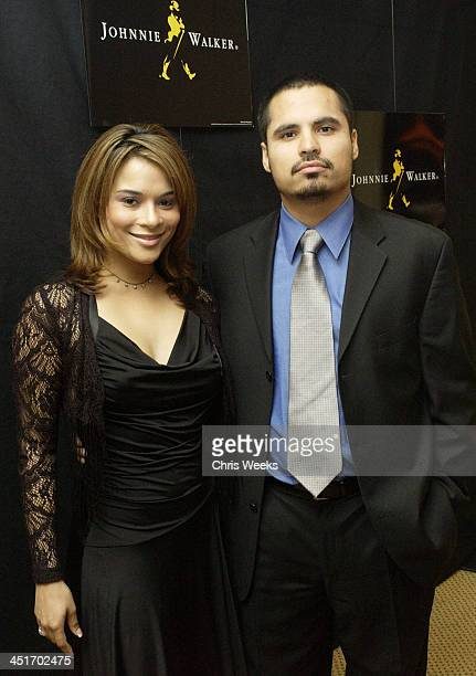 Alisa Reyes and Michael Pena during Johnnie Walker Lounge at the National Hispanic Media Coalition's Image Awards at Regent Beverly Wilshire in...