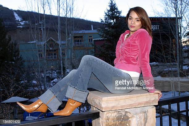 Alisa Reyes during 2003 Sundance Film Festival Alisa Reyes Outdoor Portraits at Main Street in Park City Utah United States