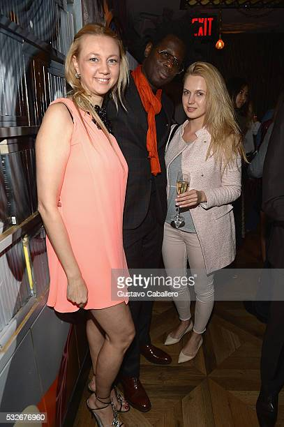 Alisa Roever and Bradley Theodore attends the Haute Living Jet Smarter Honor Cover Star Anthony Mackie on May 18 2016 in New York City