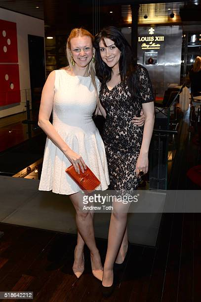 Alisa Roever and Larissa Posner attend Baroque Access Presents Louis XIII Legacy Experience on April 1 2016 in New York City