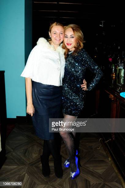 Alisa Roever and Lucia Hwong Gordon attend Cheri Kaufman's Birthday at Kaufman Astoria Studios on November 29 2018 in the Queens borough of New York...