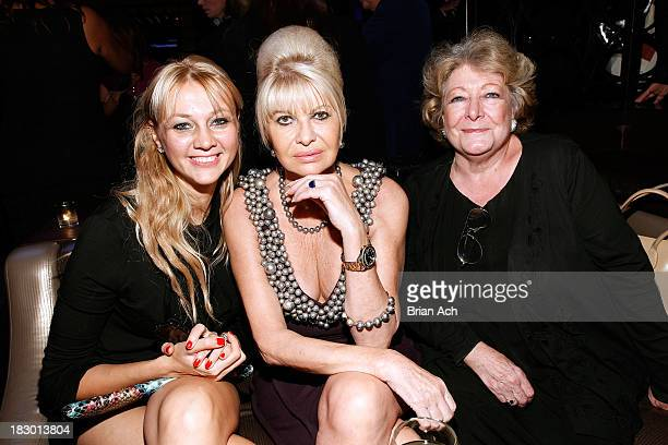Alisa Roever Ivana Trump and Catherine Saxton attend Gabrielle's Angel Foundation Angel Ball Launch Party at Lavo on October 3 2013 in New York City