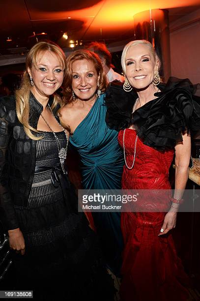 Alisa Roever Michele Rella and Michele Herverc attends the Seduced and Abandoned Premiere and After Party during the 66th Annual Cannes Film Festival...