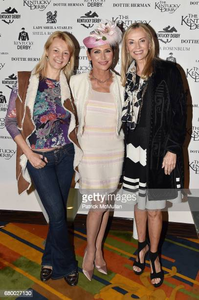Alisa Roever Shiela Rosenblum and Bonnie Pfeifer Evans attend the Kentucky Derby Party New York City at Le Cirque on May 6 2017 in New York City