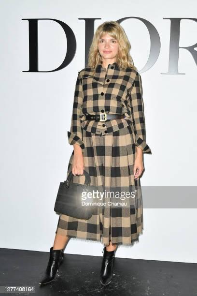 Alisa Volskaya attends the Dior Womenswear Spring/Summer 2021 show as part of Paris Fashion Week on September 29, 2020 in Paris, France.