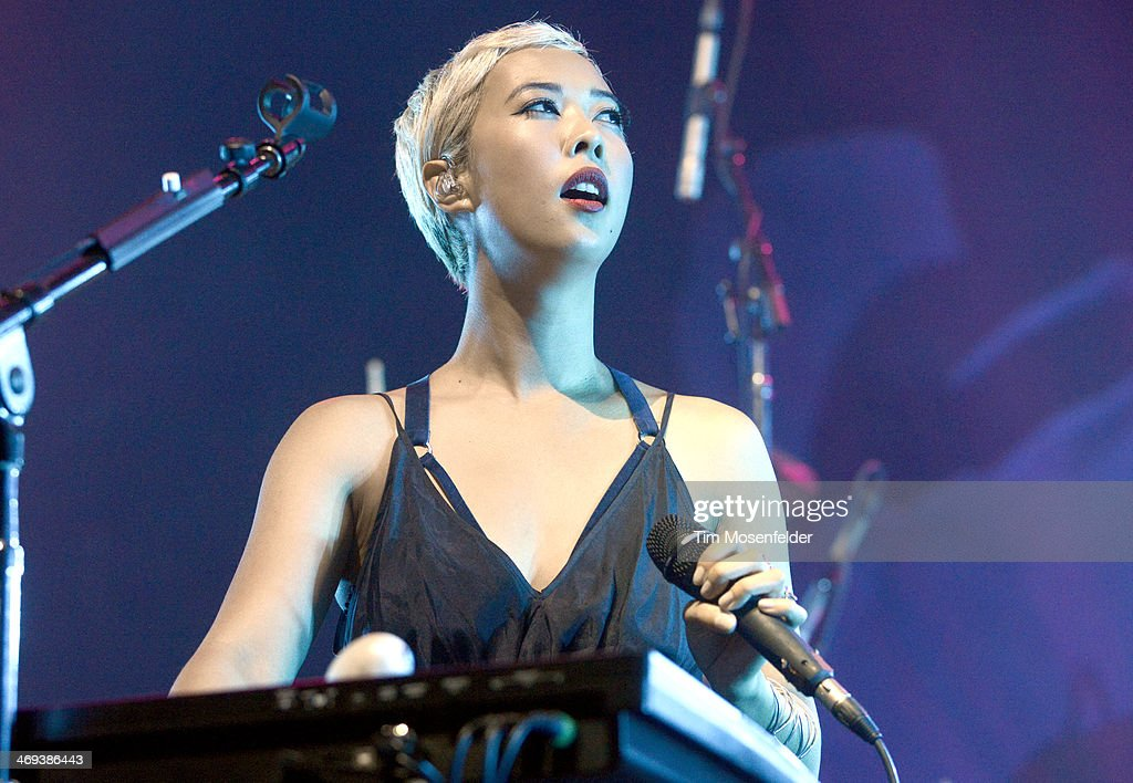 Alisa Xayalith of The Naked And Famous performs in concert